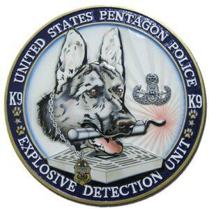 Pentagon Police Explosive Detection Unit Plaque
