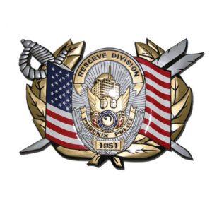 Reserve Division Phoenix Police Department Plaque