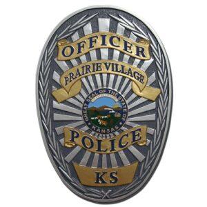 Prairie Village Police Officer Badge Plaque
