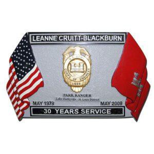 30 Years of Service Retirement Plaque