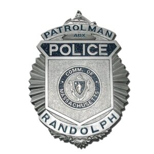 Randolph Police Patrolman Badge Plaque