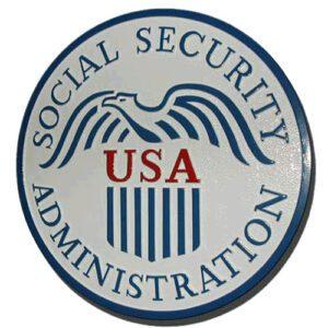 U.S. Social Security Administration Plaque