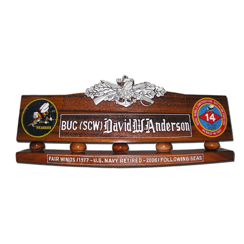 Seabee Combat Warfare Specialist Desk Name Plate