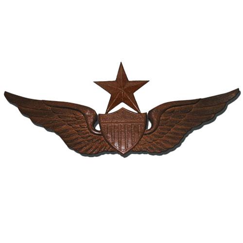 US Army Senior Pilot Wings Insignia Plaque