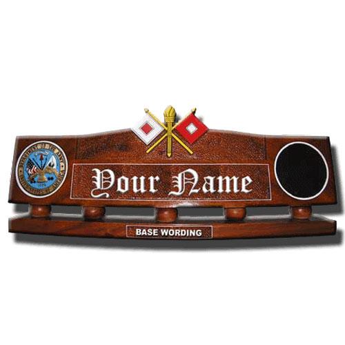 U.S. Army Signal Corps Desk Name Plate