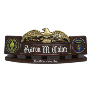 Special Forces Airborne Eagle Desk Nameplate