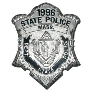 Massachusetts State Police Officer Badge Plaque