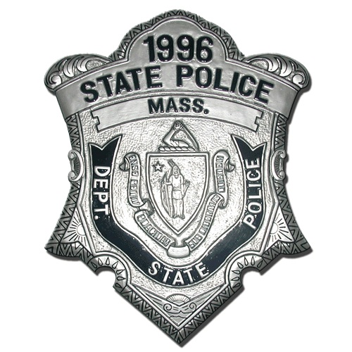 Massachusetts State Police Officer Badge Plaque