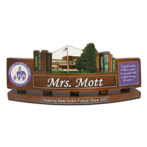 DOD Teachers Desk Nameplate Model 1