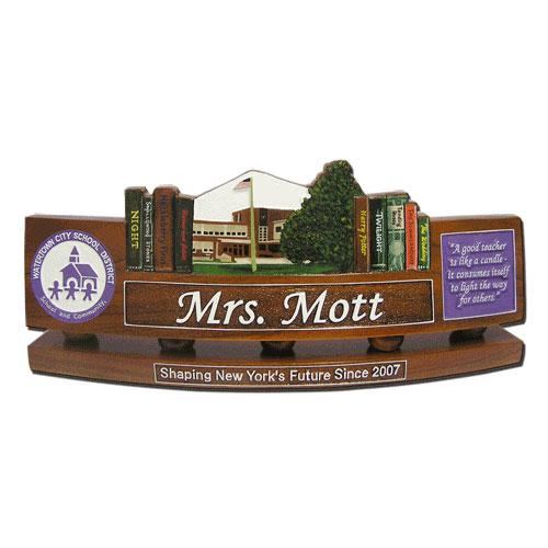 DOD Teachers Desk Nameplate Model 1
