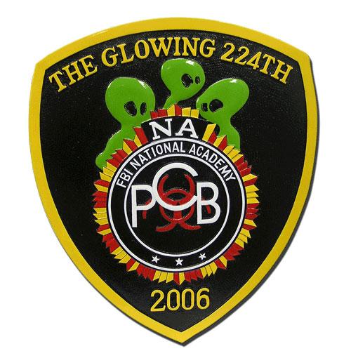 FBI Glowing 224th Emblem Plaque
