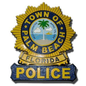 Palm Beach Florida Police Officer Badge Plaque