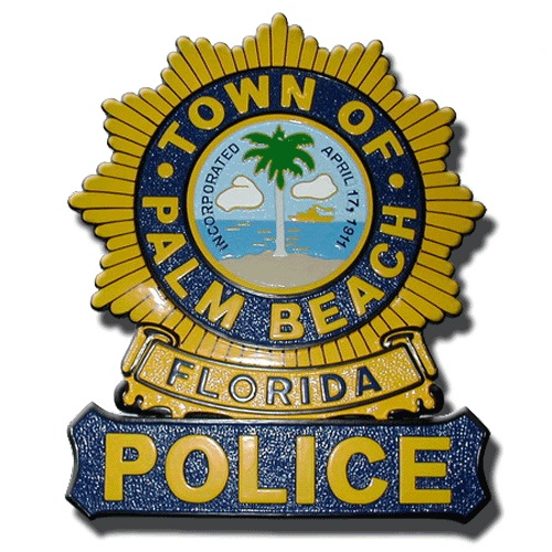 Palm Beach Florida Police Officer Badge Plaque