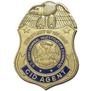 U.S. Army Criminal Investigation Command Agent Badge Plaque