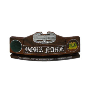 U.S. Army Combat Action Badge Desk Name Plate
