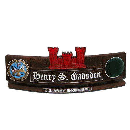 U.S. Army Corps of Engineers Desk Name Plate