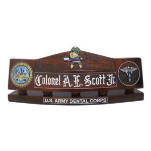 Army Dental Corps Desk Name Plate