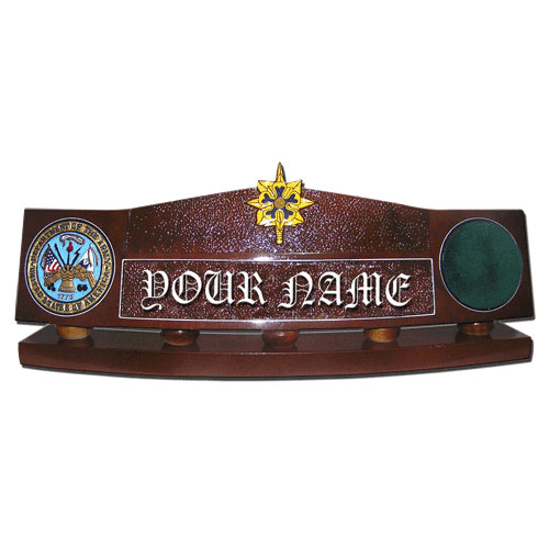 U.S. Army Military Intelligence Desk Name Plate