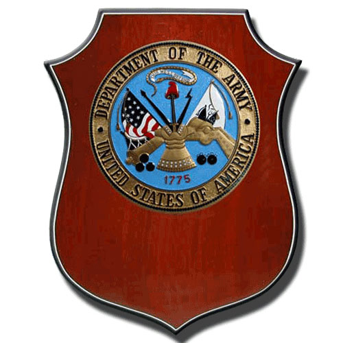 U.S. Army - USA Wooden Shield Plaque