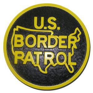 United States Border Patrol Plaque