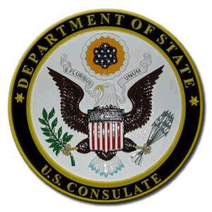 State Department Consulate Seal Plaque