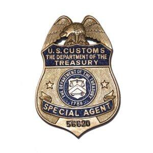 U.S. Customs Treasury Agent Badge Plaque