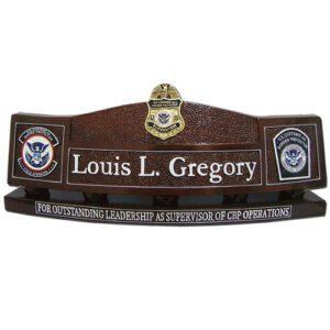 US Customs & Border Protection Desk Nameplate