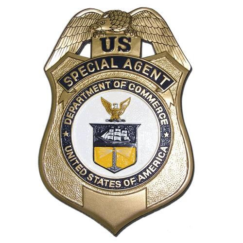 U.S. Department of Commerce Special Agent Badge Plaque