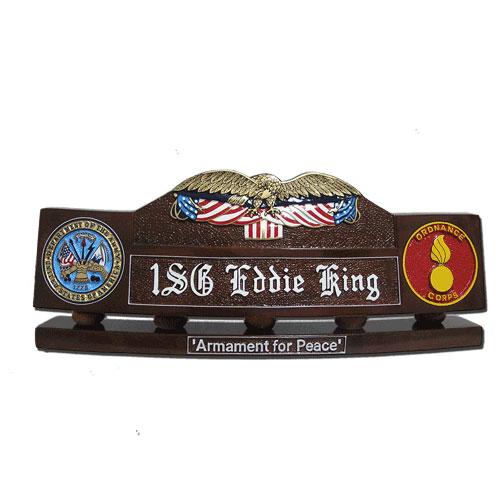 Eagle & Flag Desk Name Plate