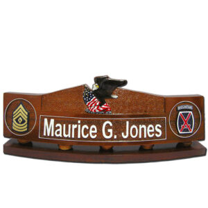 Eagle & Flag Desk Name Plate