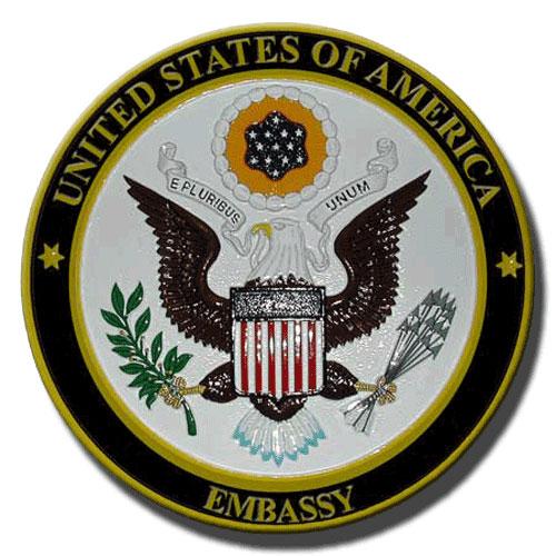 U.S. Embassy Seal Plaque