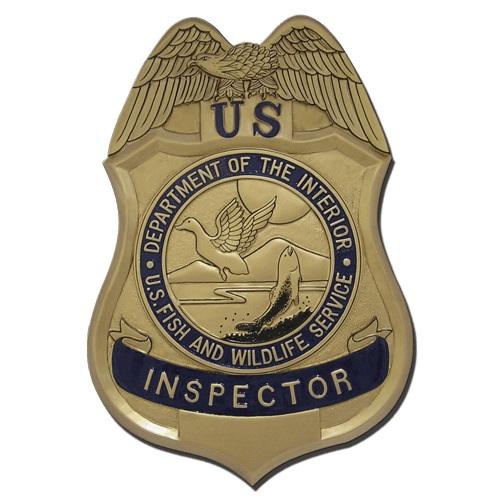 U.S. Fish & Wildlife Service Inspector Badge Plaque