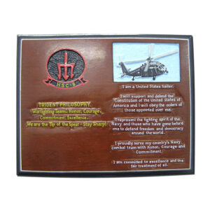 US Navy HSC 9 Trident Philosophy Plaque