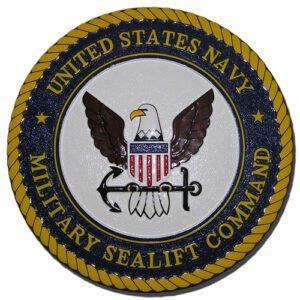 US Navy Military Sealift Command MSC Seal / Podium Plaque