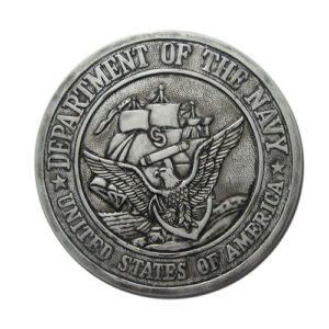 US Navy USN Seal Antique Silver