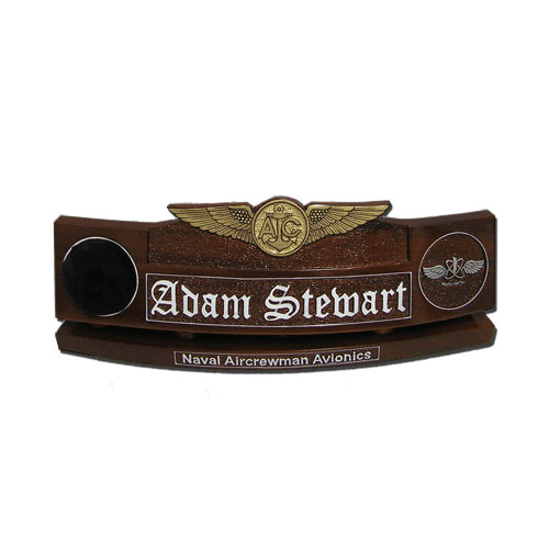 Enlisted Aircrew Badge Desk Name Plate