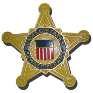 Secret Service Star Seal Plaque