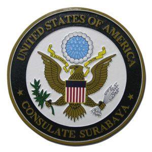 US Surabaya Consulate Seal