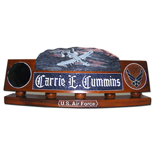 USAF A-10 Thunderbolt Desk Nameplate