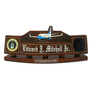 USAF Boeing 747 200B Desk Name Plate