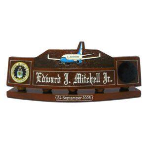 USAF Boeing 747 200B Desk Name Plate