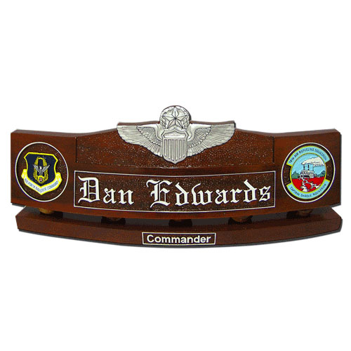 USAF Command Pilot Wings Desk Name Plate