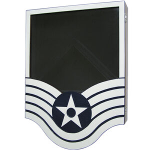 US Air Force E6 Retirement / Shadow Box Colored