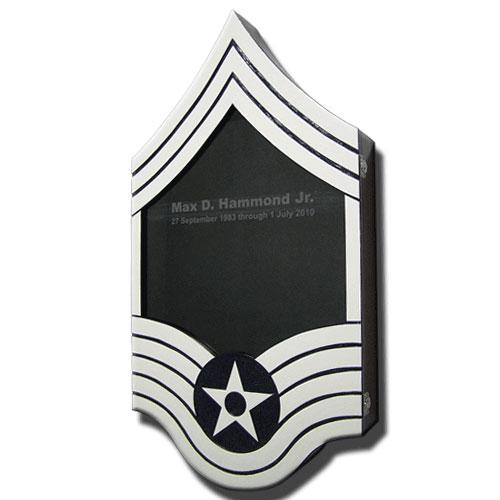 Air Force E9 Retirement Shadow Box