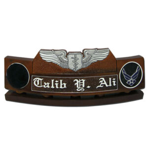 USAF Flight Nurse Badge Desk Name Plate