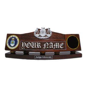 USAF Judge Advocate Desk Name Plate