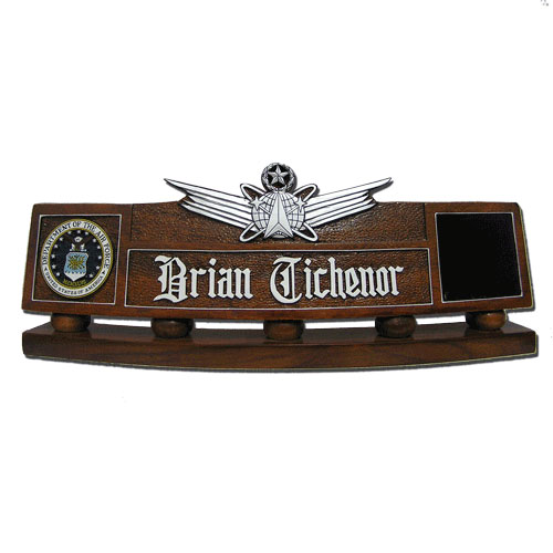 USAF Master Space Missile Badge Desk Name Plate