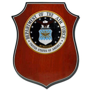USAF Seal Shield Shaped Award Plaque