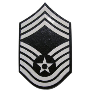 USAF E9 Rank Insignia Plaque