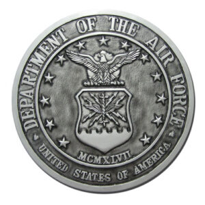 Air Force Seal Antique Silver